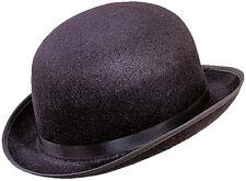 Schwarzer Melonen-Hut aus Filz NEU - Karneval Fasching Hut Mütze Kopfbedeckung