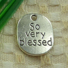 free ship 31 pieces tibetan silver so very blessed charms 22x18mm #4029