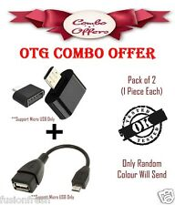 Combo Micro USB OTG Adapter And OTG Cable Add Pendrive Mouse Keyboard Card Reade