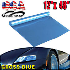 "Blue 12""*48"" Car Vinyl Film Tint Sticker Wrap for Tail Light Headlight Fog Light"