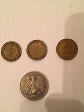 Münzen aus der DM-Zeit - 5 DM aus 1991 und 3 Groschen aus 1950