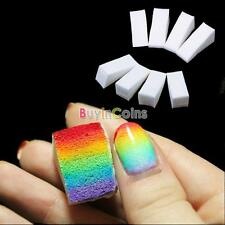 8 x Wedge sponge Salon Gradient Nails Soft Ombre Colour Varnish Polish Manicure