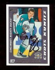 CHRIS KUNITZ 2004 Pacific Prospects AHL Hockey Edition - SIGNED AUTOGRAPH RC