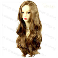 Wiwigs Fabulous Golden Blonde Long Wavy Layered Skin Top Ladies Wig