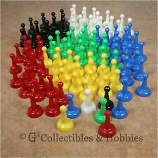 NEW Set of 120 Board Game Pawns Playing Pieces - 6 Colors