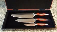 3PC Premium Cutlery Chef Knives Gift Box German Steel MSRP $429