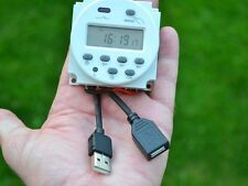5V USB 7-Day digital Timer, Programmable, weekly or daily ideal remote power
