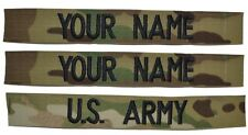 3 Piece Multicam Scorpion Name Tape Set (sew-on) - U.S. Army Military