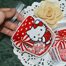 100pcs New Arrival Kitty Homemade Party Favors Candy Self-Adhesive Plastic Bags
