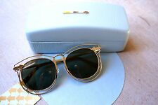 100% AUTHENTIC KAREN WALKER SIMONE GOLD W TORTOISE Sunglasses- *BRAND NEW*