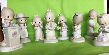 Lot of 8 PRECIOUS MOMENTS 1978-80s FIGURINES Birds,Club Gavel,Doctor,Doll,Song