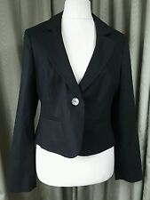 Laura Ashley Linen Blend Black Blazer Jacket UK 18 EXCELLENT CONDITION