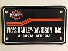 Vic's Harley Davidson of Augusta, GA Dealership License Plate Tag Insert - NEW