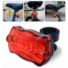 Bike Fahrrad MTB 5 LED Wasserdicht Rücklicht Sicherheit Stoßfest Hinter Lampe