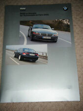 BMW Z4 740d 730d PARIS MOTOR SHOW 2002 FRENCH BROCHURE