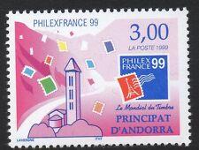 Andorra SGF556 1999 Philexfrance 99 estampillada sin montar o nunca montada