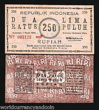 INDONESIA 250 RUPIAH P S286 1949 OLD FORGERY UNC MONEY NETHERLANDS REPLICA NOTE
