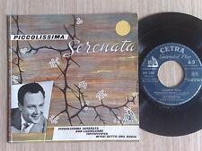 """CLAUDIO VILLA - PICCOLISSIMA SERENATA -  EP 45 GIRI 7"""" CON 4 CANZONI"""
