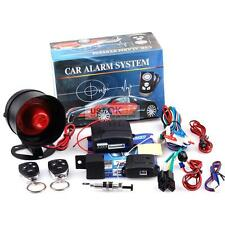1-Way Car Alarm Protection Security System Keyless Entry Siren w/2 Remote Start