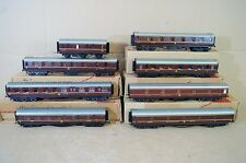 LAWRENCE BSL KIT BUILT RAKE of 8 LMS 6 WHEEL COACH 1st 3rd STOVE SLEEPER DINING