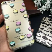 Hot Fashion Sexy Crystal Clear Soft Gel Case Cover for iPhone 5S 6 6S 6S Plus
