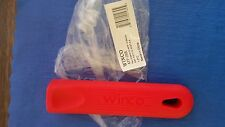 "WINCO SILICONE HOT HANDLE HOLDER RED RUBBER SKILLET GRIP COVER FITS 12"" FRY PAN"
