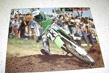 1 Kawasaki 1987  KX 125, Brochure  NOS 2 pages,
