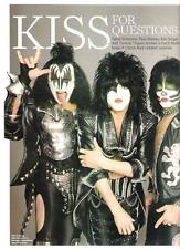 KISS sign magazine PHOTO / mini Poster 11x8 inches