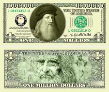 USA 1 Million Dollar Commemorative Banknote Leonardo Da Vinci - UNC & CRISP