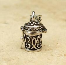 925 Sterling Silver Small Prayer Box Keepsake Pendant Jewellery