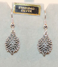 Sterling Silver Porcupine Wire Earrings 16x11x6mm (10661)
