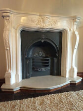 Grand French Louis plaster fire surround professional made,   free delivery