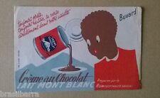 1 BUVARD PUBLICITAIRE  CREME AU CHOCOLAT LAIT MONT BLANC Circa 1955