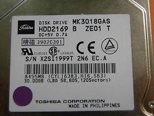 "30 GB Toshiba MK3018GAS HDD2169 B ZE01 T / PCB: G5B000043 - 2,5"" Hard Disk Drive"