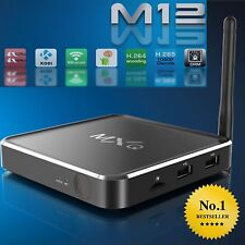 Manomettere Kodi Mbox 4k m12 QUADCORE trasmissioni multimediali Android TV Box Film Sports