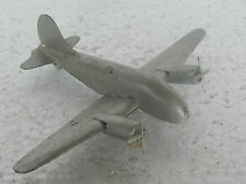 Vintage Silver Color Litho Airplane Metal Toy