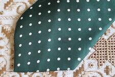 Faconanile Verde Lunares Seda Hecho a mano Tie-Ditsy Vintage