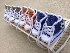 Crochet Baby Sneakers, Baby Boy or Girl Shoes, size 3-6 months