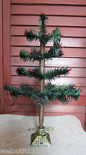 "13"" German Style FEATHER TREE WITH CAST IRON BASE.  Just Gorgeous!  Dark Green!"