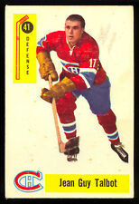 1958 59 PARKHURST HOCKEY 41 JEAN GUY TALBOT VG-EX MONTREAL CANADIENS FREE SHIP