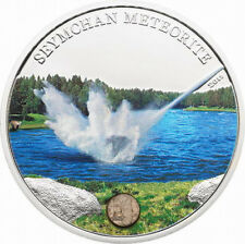 Cook 2012 Russia Seymchan Meteorite 5$ Colour Silver Coin,Proof
