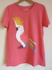 Mini Boden Girls Top T Shirt Age 11 12 Pink Summer Parrot Sequin Casual