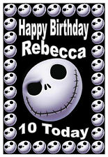 NIGHTMARE BEFORE CHRISTMAS (JACK) - BIRTHDAY CARD PERSONALISED - ANY NAME & AGE