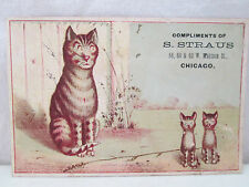 Vintage S. Straus Chicago Furniture Carpets Stoves Etc. Store Advertising Card