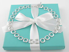 Auth Tiffany & Co Silver Cushion Necklace Packaging Box Pouch Card Ribbon