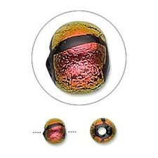 4614 Dichroic Glass Beads Copper Pink 6mm PK1 *UK EBAY SHOP*