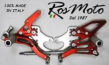 PEDANE ARRETRATE REARSETS KAWASAKI ZX10R 2004-2005 ROSSO RED