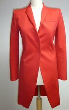 BALENCIAGA designer RED EVENING JACKET dress COAT BLAZER 36 UK 8 10 rrp@£1000.00