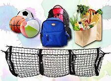 3 Pocket Cargo Net Trunk SUV Pickup Truck Bed Storage Organizer Grocery Fit Keep