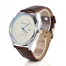 Business Vintage Men's Stainless Steel Calendar Leather Quartz Classic Watch